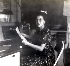 Lois Culver in 1943 at KWLK